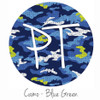 "12""x12"" Permanent Patterned Vinyl - Camo Blue Green"