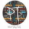 "12""x12"" Permanent Patterned Vinyl - Work Shop Tools"