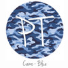 "12""x12"" Patterned Heat Transfer Vinyl - Camo Blues"