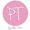 "12""x12"" Patterned Heat Transfer Vinyl - Sprinkles-Pink"