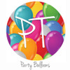 "12""x12"" Permanent Patterned Vinyl - Party Balloons"