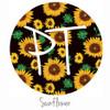 "12""x12"" Patterned Heat Transfer Vinyl - Sunflowers"