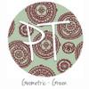 "12""x12"" Permanent Patterned Vinyl - Geometric - Green"