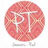 "12""x12"" Patterned Heat Transfer Vinyl - Geometric - Red"