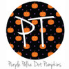 "12""x12"" Permanent Patterned Vinyl - Polka Dot Pumpkin - Purple"