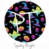 "12""x12"" Patterned Heat Transfer Vinyl - Spooky Bright"