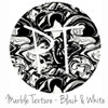 "12""x12"" Permanent Patterned Vinyl - Marble Texture - Black & White"