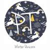"12""x12"" Permanent Patterned Vinyl - Winter Unicorn"