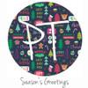 "12""x12"" Patterned Heat Transfer Vinyl - Season's Greetings"