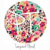 "12""x12"" Patterned Heat Transfer Vinyl - Leopard Floral"