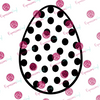 Polka Dot Egg Digital Cut File