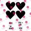 Candy Hearts Digital Cut File
