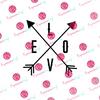 Love Arrows Digital Cut File