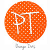 "12""x12"" Permanent Patterned Vinyl - Dots - Orange"