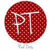 """12""""x12"""" Permanent Patterned Vinyl - Dots - Red"""
