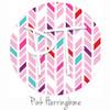 "12""x12"" Permanent Patterned Vinyl - Pink Herringbone"