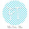 "12""x12"" Permanent Patterned Vinyl - Polka Dots Blue"