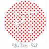 """12""""x12"""" Permanent Patterned Vinyl - Polka Dots Red"""