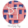 "12""x12"" Patterned Heat Transfer Vinyl - 4th of July Flag"