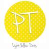"12""x12"" Patterned Heat Transfer Vinyl - Dots - Light Yellow"