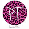 """12""""x12"""" Patterned Heat Transfer Vinyl - Leopard Pink"""