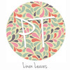 "12""x12"" Patterned Heat Transfer Vinyl - Linen Leaves"
