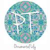 "12""x12"" Patterned Heat Transfer Vinyl - Ornamental Lily"