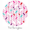 "12""x12"" Patterned Heat Transfer Vinyl - Pink Herringbone"