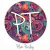 "12""x12"" Patterned Heat Transfer Vinyl - Plum Paisley"