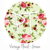 "12""x12"" Patterned Heat Transfer Vinyl - Vintage Floral - Green"