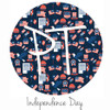 """12""""x12"""" Patterned Heat Transfer Vinyl - Independence Day"""