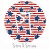 "12""x12"" Permanent Patterned Vinyl - Stars & Stripes"