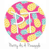 "12""x12"" Patterned Heat Transfer Vinyl - Pretty As A Pineapple"
