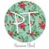 "12""x12"" Patterned Heat Transfer Vinyl - Hawaiian Floral"