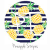 "12""x12"" Permanent Patterned Vinyl - Pineapple Stripes"