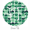 "12""x12"" Patterned Heat Transfer Vinyl - Green Tile"