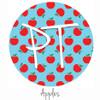"12""x12"" Permanent Patterned Vinyl - Apples"