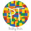 "12""x12"" Permanent Patterned Vinyl - Building Bricks"