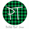 "12""x12"" Patterned Heat Transfer Vinyl - Buffalo Plaid - Green"