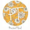 """12""""x12"""" Patterned Heat Transfer Vinyl - Mustard Floral"""