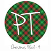 "12""x12"" Patterned Heat Transfer Vinyl - Christmas Plaid #4"