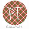 "12""x12"" Patterned Heat Transfer Vinyl - Christmas Plaid #5"