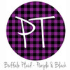"12""x12"" Permanent Patterned Vinyl - Buffalo Plaid: Purple/Black"
