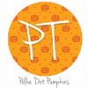 "12""x12"" Patterned Heat Transfer Vinyl - Polka Dot Pumpkins"