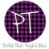 "12""x12"" Patterned Heat Transfer Vinyl - Buffalo Plaid: Purple/Black"