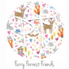 "12""x12"" Patterned Heat Transfer Vinyl - Furry Forest Friends"