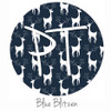 "12""x12"" Patterned Heat Transfer Vinyl - Blue Blitzen"