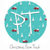 "12""x12"" Permanent Patterned Vinyl - Christmas Farm Truck"