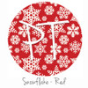 "12""x12"" Permanent Patterned Vinyl - Snowflakes - Red"