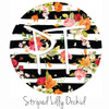 "12""x12"" Permanent Patterned Vinyl - Striped Lily Orchid"